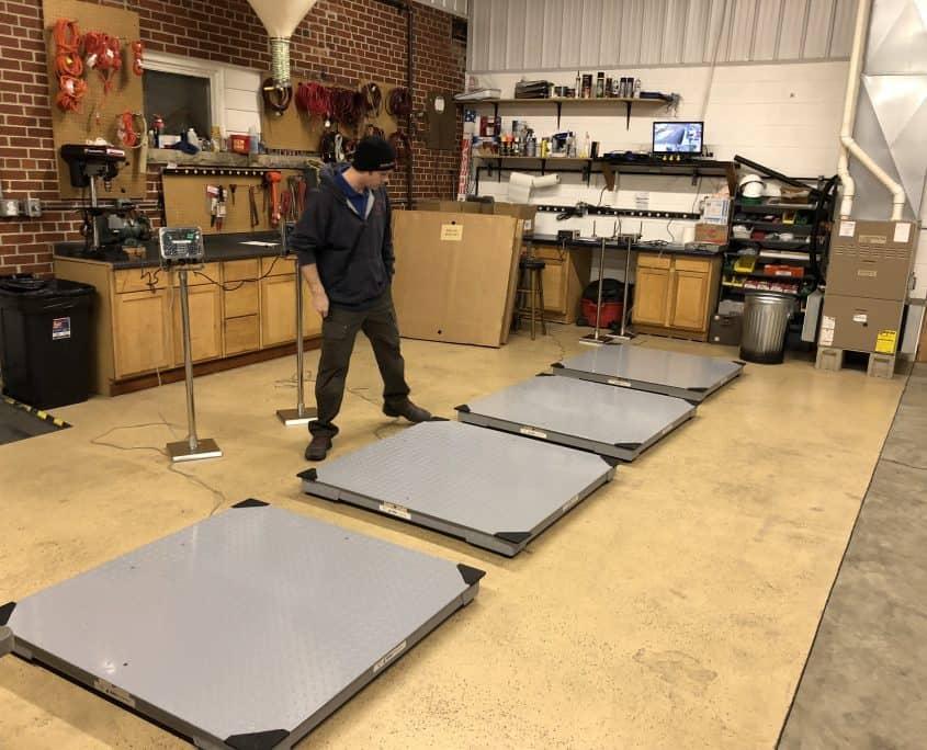 industrial floor scales wi